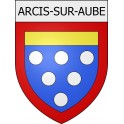 Stickers coat of arms Arcis-sur-Aube adhesive sticker