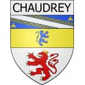Stickers coat of arms Chaudrey adhesive sticker