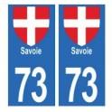 73 Savoie aufkleber platte
