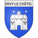Stickers coat of arms Ervy-le-Châtel adhesive sticker
