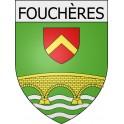 Fouchères 10 ville Stickers blason autocollant adhésif