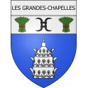 Stickers coat of arms Les Grandes-Chapelles adhesive sticker