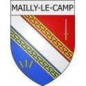 Mailly-le-Camp 10 ville Stickers blason autocollant adhésif