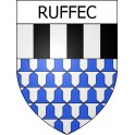 Stickers coat of arms Ruffec adhesive sticker