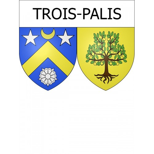 Stickers coat of arms Trois-Palis adhesive sticker