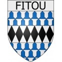 Stickers coat of arms Fitou adhesive sticker