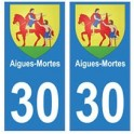 30 Aigues-mortes ville autocollant plaque stickers