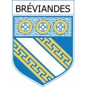 Stickers coat of arms Bréviandes adhesive sticker