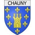 chauny 02 ville Stickers blason autocollant adhésif