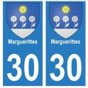 30 Marguerittes ville autocollant plaque stickers