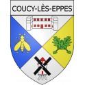 coucy-lès-eppes 02 ville Stickers blason autocollant adhésif