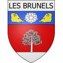 Stickers coat of arms Les Brunels adhesive sticker