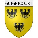 Stickers coat of arms Guignicourt adhesive sticker