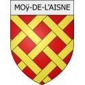Stickers coat of arms Moÿ-de-l'Aisne adhesive sticker