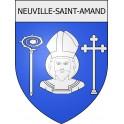 Neuville-Saint-Amand 02 ville Stickers blason autocollant adhésif