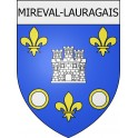 Stickers coat of arms Mireval-Lauragais adhesive sticker