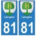 81 Labruguière blason autocollant plaque stickers ville