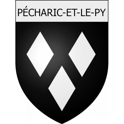 Pécharic-et-le-Py 11 ville Stickers blason autocollant adhésif