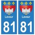 81 Lavaur blason autocollant plaque stickers ville