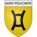 Saint-Polycarpe 11 ville Stickers blason autocollant adhésif