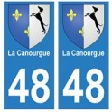 48 La Canourgue coat of arms sticker plate stickers city