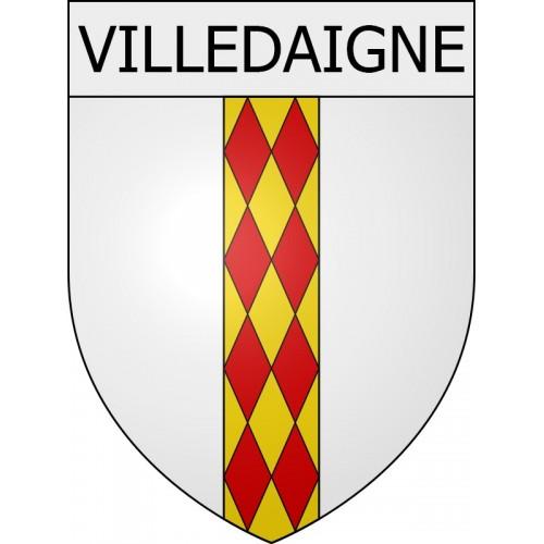 Villedaigne 11 ville Stickers blason autocollant adhésif