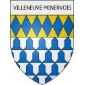 Villeneuve-Minervois 11 ville Stickers blason autocollant adhésif