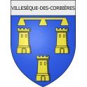 Villesèque-des-Corbières 11 ville Stickers blason autocollant adhésif