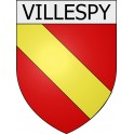 Villespy 11 ville Stickers blason autocollant adhésif