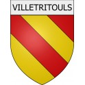 Villetritouls 11 ville Stickers blason autocollant adhésif