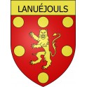 Stickers coat of arms Lanuéjouls adhesive sticker
