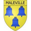 Maleville 12 ville Stickers blason autocollant adhésif