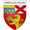 Stickers coat of arms Marcillac-Vallon adhesive sticker