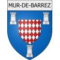 Mur-de-Barrez 12 ville Stickers blason autocollant adhésif