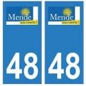 48 Mende logo autocollant plaque stickers ville