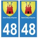 48 Saint-Chély-d'Apcher blason autocollant plaque stickers ville