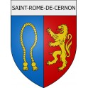 Stickers coat of arms Saint-Rome-de-Cernon adhesive sticker