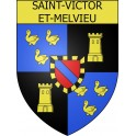 Stickers coat of arms Saint-Victor-et-Melvieu adhesive sticker