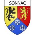 Sonnac 12 ville Stickers blason autocollant adhésif