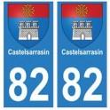82 Castelsarrasin blason autocollant plaque stickers ville