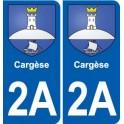 2A Cargèse blason autocollant plaque stickers ville