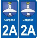 2A Cargèse logo sticker plate stickers city