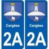 2A Cargèse logo adesivo piastra adesivi città