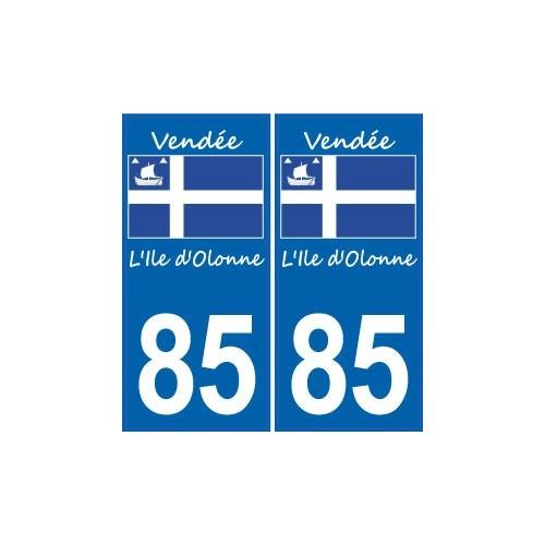 85 Ile d'Olonne logo sticker autocollant plaque immatriculation auto