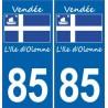 66 Cerdanya sticker adesivo piastra