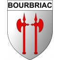 Stickers coat of arms Bourbriac adhesive sticker