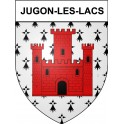 Stickers coat of arms Jugon-les-Lacs adhesive sticker