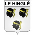 Stickers coat of arms Le Hinglé adhesive sticker