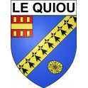 Stickers coat of arms Le Quiou adhesive sticker