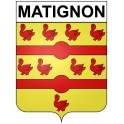 Matignon 22 ville Stickers blason autocollant adhésif